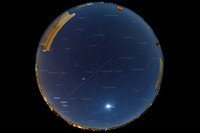 ISS Passage in Front Of Jupiter Over The Sky Of Syracuse - Italy - Single image with captions