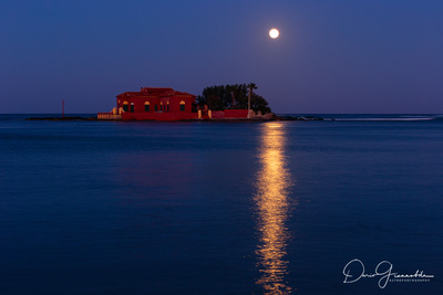 Strawberry Moon Reflection Over Brancati's Islet 2 - Marzamemi