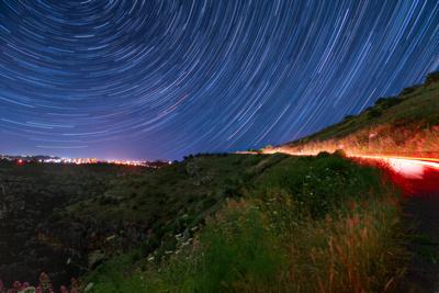 Star Trail Over Pantalica Unesco Site