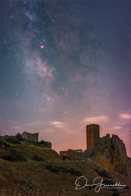 Galactic Center Above Gresti Castle Sicily Italy