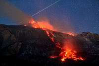 Triumph Of Stars On The Erupting Mount Etna