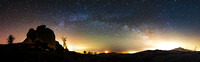 Argimusco - Milky way from the Eagle monolith to Etna volcano