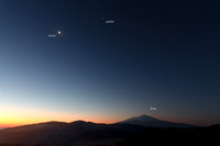 Moon And Jupiter Conjunction over the Volcano Etna Label