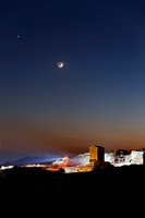 Venus Moon and Mercury Conjunction Above The Ancient Greek Theatre in Syracuse - Italy