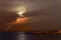 Moon and Venus rising together before-after