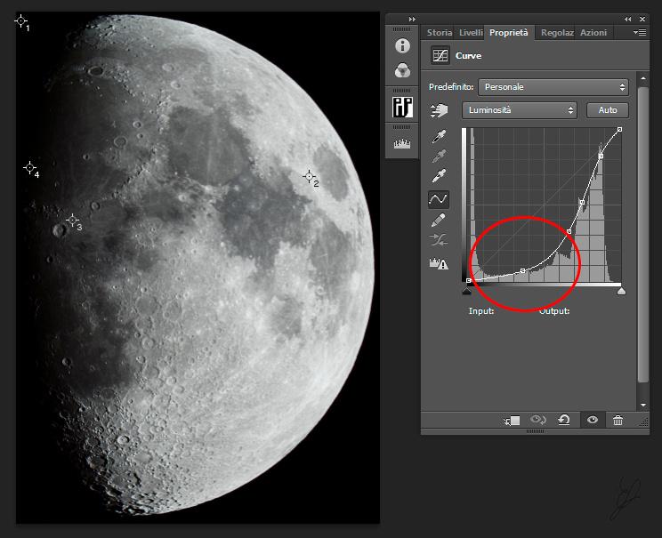 luminosity curve without mask