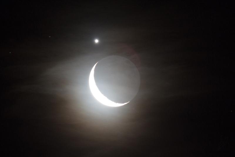 Moon and Venus clouds
