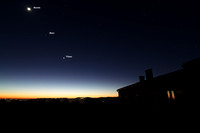 Moon Mars and Venus Alignment over Mount Etna Labels
