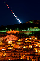 Lunar Eclipse Over Modica - Sicily bis