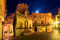 Moon Rise Over Venus Fountain - Castelbuono - Italy